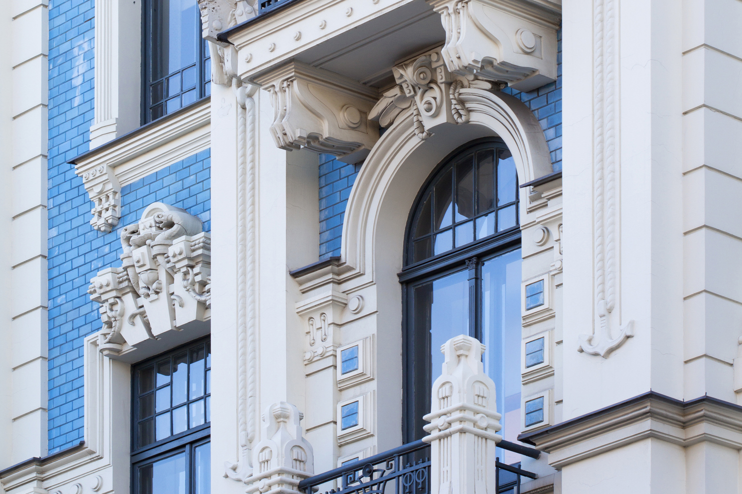 Design Elements of the Building in Art Nouveau Style in Riga, Latvia